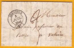 1841 - Règne De Louis Philippe - LAC Familiale (4 Pages) De Meylan Vers Valence Via Grenoble - Type 14/ 25 Mm - Marcophilie (Lettres)