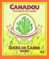 étiquette De Sirop De Canne Liquide Canadou - 70 Cl - Fruits & Vegetables