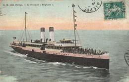 Bateaux : Brighton : Le Steamer ( à Dieppe ) Colorisée - Sonstige