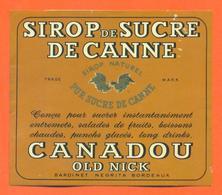 étiquette Ancienne + Etiq De Dos De Sirop De Sucre De Canne Canadou Old Nick à Bordeaux - Fruits & Vegetables