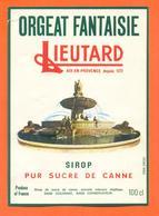étiquette De Sirop D'orgeat Fantaisie Lieutard à Aix En Provence - 100 Cl - Fruits & Vegetables