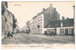 N°. 856. Berchem - Chaussée De Berchem 1904 (Geanimeerd  + Tram + Wagen Met Tonnen) - België