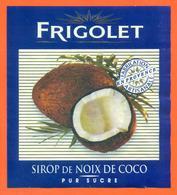 étiquette De Sirop De Noix De Coco Frigolet - Fruits & Vegetables