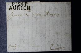 Deutschland / Hannover: P.124.P AURICH -> Norden Brief   Französische Periode 1811 - Hanovre
