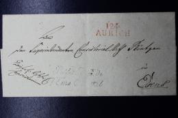Deutschland / Hannover: I24 AURICH  Préfet Dept. De L'Ems Umschlag  Französische Periode - Hanovre