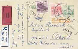 Yugoslavia - Uprated Stationery Sent Express + Registered Zagreb 1973 - Ganzsachen