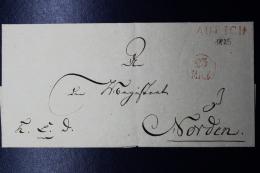 Deutschland / Hannover: AURICH 23 MAY Stempel  Brief 1825 ? -> Norden - Hanovre