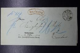 Deutschland / Hannover:  Auslagen AURICH 1872 - Hanovre
