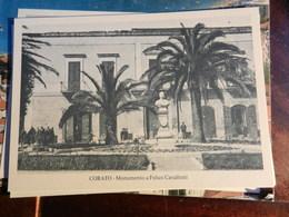 18595) BARI PROVINCIA CORATO MONUMENTO A FELICE CAVALLOTTI NON VIAGGIATA SERIE CORATO D'ALTRI TEMPI - Bari