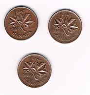 =&    CANADA  3 X 1 CENT 1956/64/69 - Canada