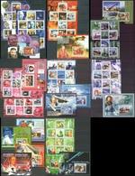 B734 !!! IMPERFORATE, PERFORATE 2009 UNION DES COMORES FAMOUS PEOPLE CELEBRES 9KB+12BL+1 LUX BL MNH - Persönlichkeiten