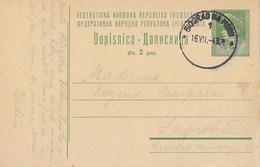 Yugoslavia - Stationery Biograd Na Moru 1949 - Postal Stationery