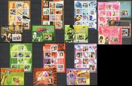 B735 2009 UNION DES COMORES CELEBRES FAMOUS PEOPLE 7KB+9BL MNH - Persönlichkeiten