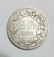SWITZERLAND / SUISSE / SVIZZERA - 2 FRANCS ( 1879 ) AG - Svizzera