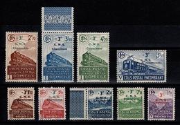 Colis Postaux YV 191 à 199 Complète N** Luxe Cote 190 Euros - Neufs