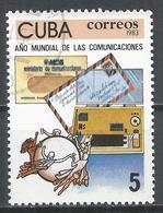 Cuba 1983. Scott #2624 (U) World Communications Year, Telegram, Airmail * - Cuba