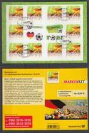 Bund Markenheftchen 88 Fussball Begeistert Deutschland 2012 ESST BBonn - BRD