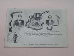 Gedenkenis Verdrinking Kapitein ROSSANDER En De Koetsier DE MEUSE Op 2 Jan 1902 ( Zie Foto's ) > Borgerhout ! - Belgique