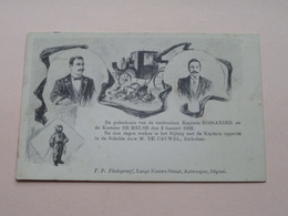 Gedenkenis Verdrinking Kapitein ROSSANDER En De Koetsier DE MEUSE Op 2 Jan 1902 ( Zie Foto's ) > Borgerhout ! - België