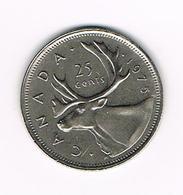 =&   CANADA  25 CENTS 1975 - Canada