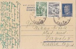 Yugoslavia - Uprated Stationery Zadar 1952 - Entiers Postaux