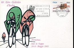 37883 Italia Special Postmark 1983  Giro D'italia  Terracina Montefiascone  , Cycling  Cyclisme, - Cyclisme