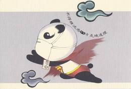 China - Giant Panda Superman Prevent Influenza A (H1N1) - Salute