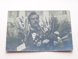 Frits Hagens I/d Bloemen Na Redding Van Maria Uit Brandende Feestwagen 1902 > Mme HAGENS Gaz Straat T/S - Verfmagazijn ! - België