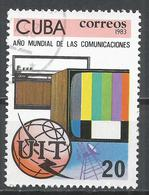 Cuba 1983. Scott #2626 (U) World Communications Year, Satelite, Television, Radio * - Cuba
