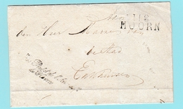 Dép 3 Départements Conquis  118 HOORN + Le Préfet De L'Arrondissement De Horn (Sans Date Ni Texte)verso= 1813. - Marcofilie (Brieven)