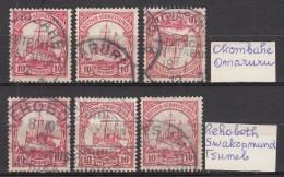 DUITSE KOLONIEN - SUDWEST-AFRIKA  1906  Michel  26    [6 Stamps]  Postmark  , See  Scan ,used/VF  [DK  472  ] - Colonie: Afrique Sud-Occidentale
