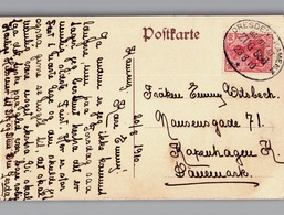 DRESDEN-KAMENZ Zug 886 Zugstempel Sehr Nett Auf AK Industrie 1910 - Briefe U. Dokumente