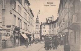 PARMA-STRADA CAVOUR-CARTOLINA ANNO 1910-1920-ANIMATISSIMA - Parma