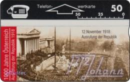 TWK Österreich Privat: '1000 J. Österreich - Ausrufung D. Republik' Gebr. - Austria