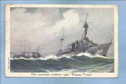 """Nos Nouveaux Croiseurs Type """"Duguay-Trouin"""" (L. Haffner Max Cremnitz Ligue Maritime Et Coloniale LMC) 2 Scans - Guerre"""