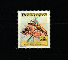 9] Timbre ** Stamp ** Burundi Insecte Insect Scarabée Beetle IMPRESSOR - Insectes