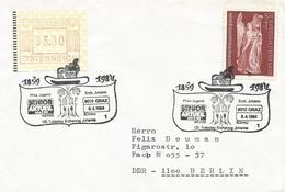 Österreich Austria 1984 Graz Erzherzog Johann Angle ATM Cover - 1981-90 Brieven