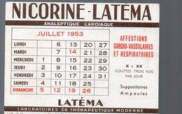 Paris Rue De Lisbonne : Buvard NICORINE LATEMA Juillet 1953 (pharmacie) (PPP14956) - Chemist's