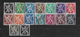 Belgien 1944  Mi 692 - 707 Yt. 674 - 689  Befreiung Gest. - Used Stamps