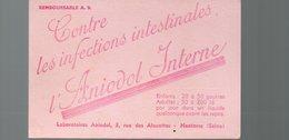 Nanterre (92 Hauts De Seine) Buvard ANIODOL INTERNE (pharmacie) (PPP14957) - Chemist's