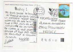 Beau Timbre , Stamp  Sur Cp , Carte , Postcard Du 20/10/2003 Pour La France - Tchéquie