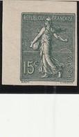 N°130g, 15c Olive: NON DENTELE IMPRESSION RECTOVERSO Coin De Feuille, - Errors & Oddities