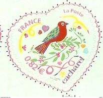 HB-P 065 France 4 Timbres Adhésifs 3748B Saint-Valentin Coeur 2005 De La Maison De Couture Cacharel Issus De Feuille - France