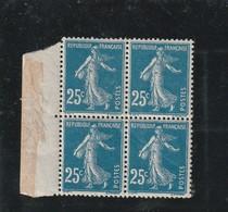 N°140g Impression Recto Verso En Bloc De Quatre Sans Charniére ** - Errors & Oddities