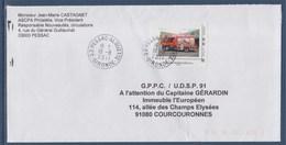 = Sapeurs Pompiers Essonne, Union Départementale, TVP LP Oblitéré 19.08.11 Sur Enveloppe Cadre Philaposte - France