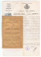 CREIL - Livret De Famille 1928 Et Notification De Divorce 1942 (fr66) - Old Paper