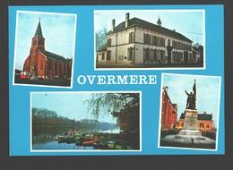 Overmere - Kerk O.L. Vrouw Ter Hemel Opgenomen - Gemeentehuis - Boerenkrijg Standbeeld - Zicht Op Donkmeer - Multiview - Berlare