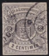 Luxembourg     .    Yvert    .     4    ( 2 Scans)      .     O     .        Oblitéré    .      /     .    Gebraucht - 1859-1880 Armoiries