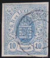 Luxembourg     .    Yvert    .      6     .     O     .        Oblitéré    .      /     .    Gebraucht - 1859-1880 Wappen & Heraldik