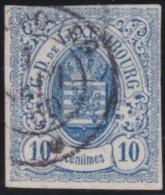 Luxembourg     .    Yvert    .      6a        .     O     .        Oblitéré    .      /     .    Gebraucht - 1859-1880 Wappen & Heraldik